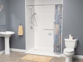 AD Awheelchair shower Bathroom Remodeling photo